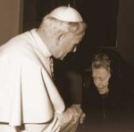 Catherine Doherty meeting with Pope John Paul II in 1981.