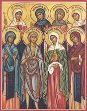 Eight Righteous Women (Desert Mothers), Holy Transfiguration Monastery, MA.