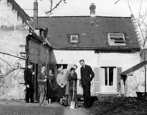 Jean Vanier with first members and volunteers of L'Arche, Trosly-Breuil, France, 1967.