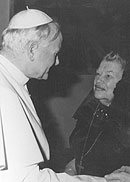 Pope John Paul II and Catherine Doherty
