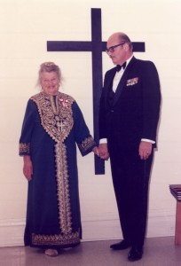 Catherine and George the night she received the Order of Canada