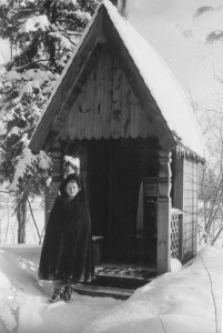 Catherine Doherty by Russian shrine