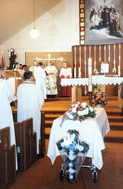 Catherine Doherty's Funeral Mass at Holy Canadian Martyrs Church in Combermere.