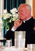 Cardinal Stafford attending the Oxford Conference on Ecclesial Movements and Communities, October 2001.