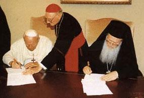 Pope John Paul II and Patriarch Bartholomew I