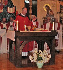 Mass with Bishop Richard Smith.
