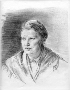 Drawing of Catherine, by Patrick Stewart