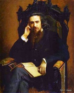 Vladimir Soloviev (portrait, 1885)